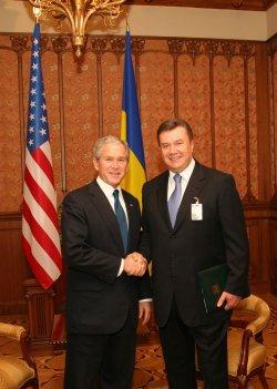 U.S. President Bush visits Ukraine
