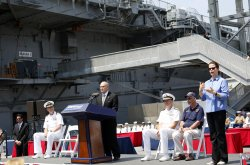 Memorial Day Ceremonies on the Intrepid Sea Air & Space Museum in New York