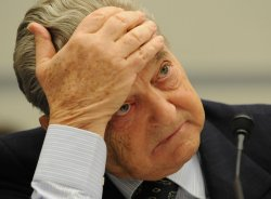 Hedge fund manager George Soros testifies on Capitol Hill