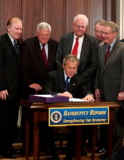 BUSH SIGNS BANKRUPTCY REFORM BILL