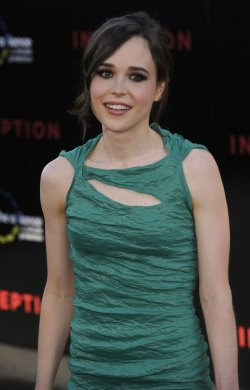 "Ellen Page attends the premiere of the film ""Inception"" in Los Angeles"