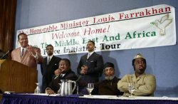 Farrakhan returns from the Middle East, Africa