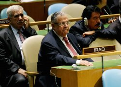 Iraq's President Jalal Talabani attends the General Assembly at United Nations