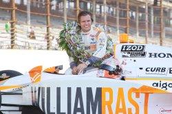 Dan Wheldon Celebrates Second Indy Triumph in Indianapolis, Indiana.