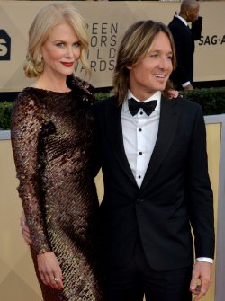 Nicole Kidman and Keith Urban attend the 24th annual SAG Awards in Los Angeles