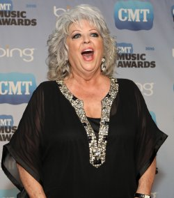Paula Deen speaks to the press CMT Awards in Nashville