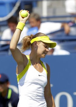 Lucie Safarova at the U.S. Open Tennis Championships in New York