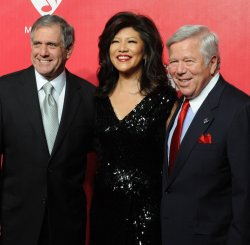 Les Moonves, Judy Chen and Robert Kraft attend the MusiCares Person of the Year gala in Los Angeles