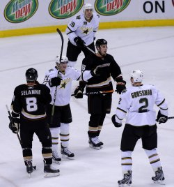 Anaheim Ducks vs Dallas Stars in Game 2 of the Western Conference quarterfinals in Anaheim, California