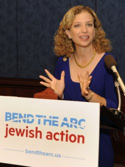Rep. Debbie Wasserman Schultz (D-FL) addresses Bend The Arc Jewish Action PAC on tax policy