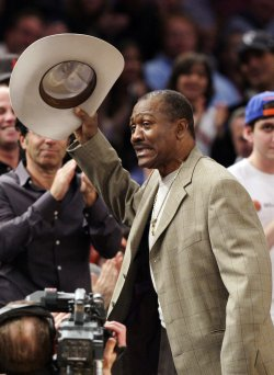Hall of Fame Boxer Joe Frazier at Madison Square Garden in New York