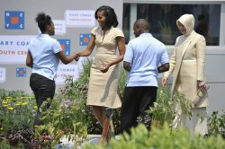 First Lady Michelle Obama Tours Chicago with NATO First Ladies
