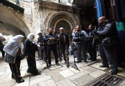 High Israeli Security In Old City Jerusalem For Friday Muslim Prayers