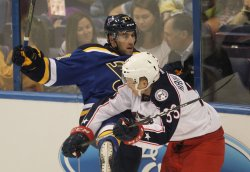 St. Louis Blues Brad Hunt knocked out of play