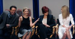 Sharon Osbourne reacts during People's Choice Awards nominees announcements in Beverly Hills