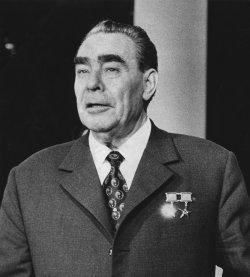 Soviet Communist Party Chief Leonid Brezhnev
