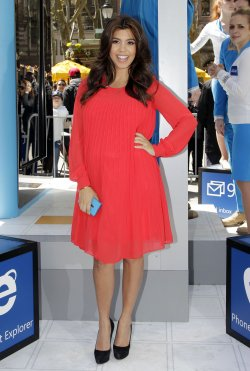 Kourtney Kardashian Promotes the Introduction of the new Microsoft Windows Phone operating system at Bryant Park in New York