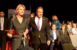 Gov. Andrew Cuomo arrives for first presidential debate at Hofstra University