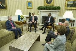 President Obama meets with Congressional Leadership in Washington, D.C.