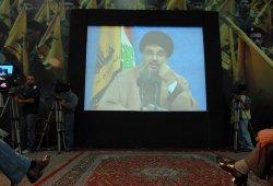Hezbollah leader in-hiding speaks via video