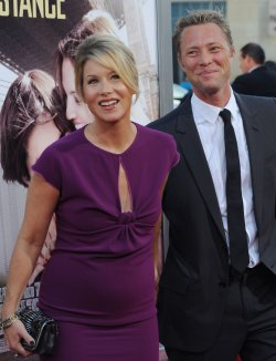 "Christina Applegate and Martyn Lenoble attend the ""Going the Distance"" premiere in Los Angeles"
