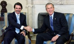 BUSH, SPANISH PM AZNAR MEET IN WASHINGTON