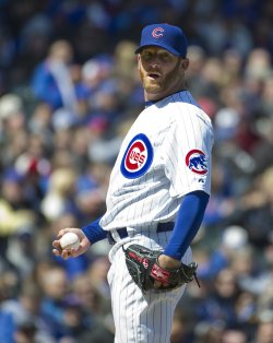 Dempster Stands on Mound on Opening Day in Chicago