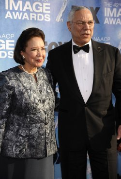 Colin Powell and wife Alma Powell attend the 42nd NAACP Image Awards Awards in Los Angeles