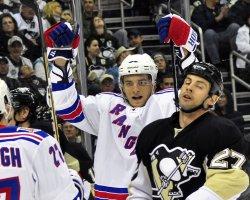 Rangers Anisimov Scores On Pens Fleury in Pittsburgh