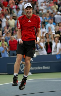 Andy Murray and Robin Haase compete at the U.S. Open in New York