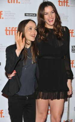 Ellen Page and Liv Tyler attend 'Super' premiere at the Toronto International Film Festival