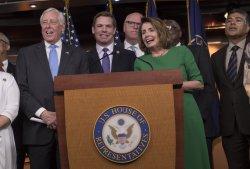 Minority Leader Pelosi speaks on the failed healthcare votes in Washington, D.C.