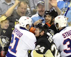 Islanders Tempers Flare During Game 5 in Pittsburgh