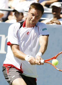 Robin Soderling and Andreas Haider-Maurer compete at the U.S. Open in New York