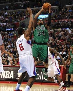 Celtic's Paul Pierce, Clippers' DeAndre Jordan in Los Angeles