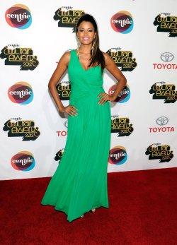 Claudia Jordan arrives at the Soul Train Awards 2012 in Las Vegas