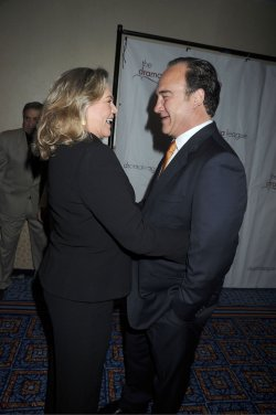 Kathleen Turner and Jim Belushi arrives for the Drama League Awards Ceremony and Luncheon