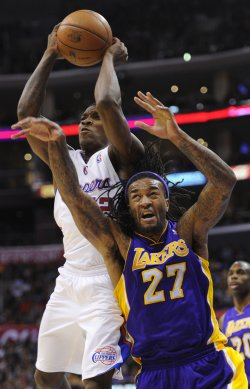 Los Angeles Clippers play the Los Angeles Lakers in Los Angeles