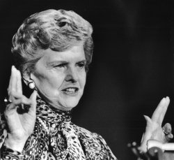 Betty Ford speaks about women's issues