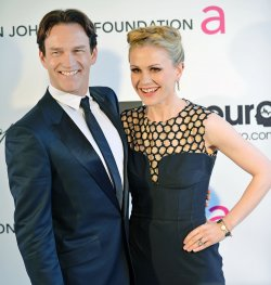Anna Paquin and Stephen Moyer attend the Elton John AIDS Foundation Oscar viewing party