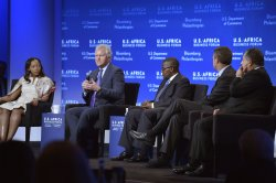 Former President Clinton attends US-Africa Business Forum in Washington