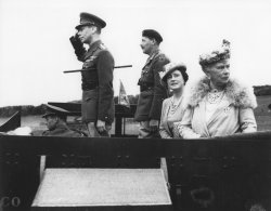 King George VI on top of an armored vehicle in 1942