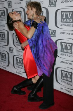 Justine Bateman and Chloris Leachman arrive for the TV Land Awards in New York
