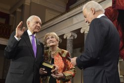 Newly- reelected Sen. Orrin Hatch sworn in to begin 113th Congress on Capitol Hill