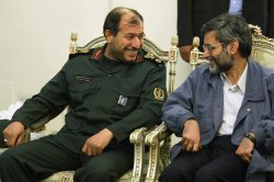 AHMADINEJAD IN A WELCOMING CEREMONY