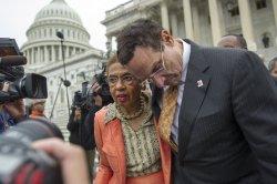 Mayor Gray on Capitol Hill in Washington, D.C.