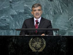 Abdullah Gul at the 65th United Nations General Assembly at the UN in New York
