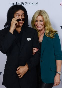"Gene Simmons and his wife Shannon attend ""The Impossible"" premiere in Los Angeles"