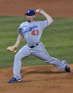 Randy Wolf pitches during game four of the NLCS in Philadelphia
