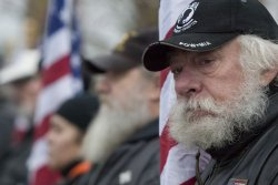 Westboro Baptist Church members protest military funeral in Port Orchard, Washington